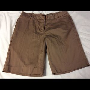 The Limited Cassidy Fit Bermuda Shorts Cocoa NWOT